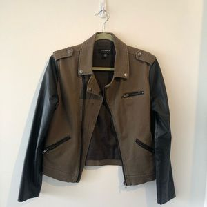 By corpus Moto Jacket with faux leather sleeves